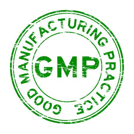 Grunge GMP (Good Manufacturing Practice) Sello Ilustración de vector