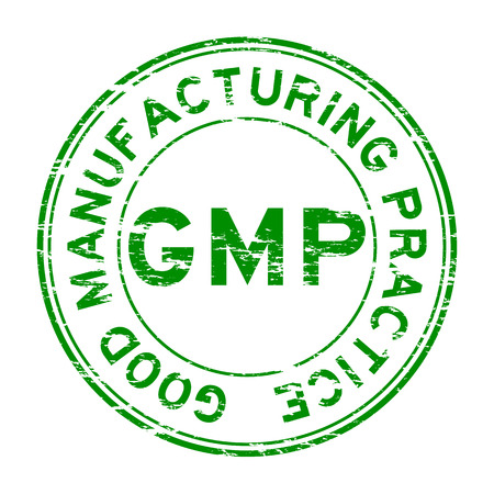 Grunge GMP (Good Manufacturing Practice) stamp