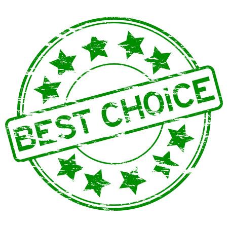 Round grunge best choice stamp