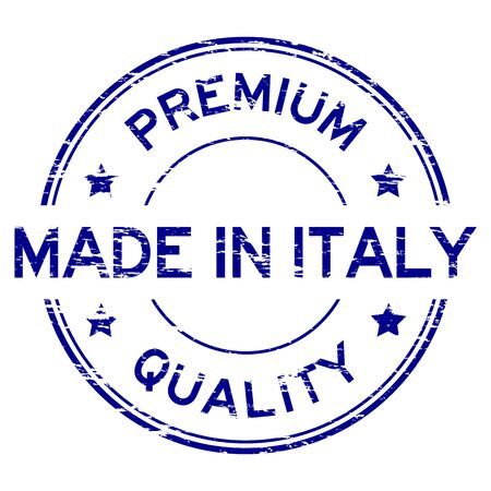 made in italy: Grunge premium quality and made in Italy stamp