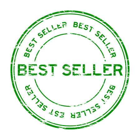 seller: Grunge best seller rubber stamp