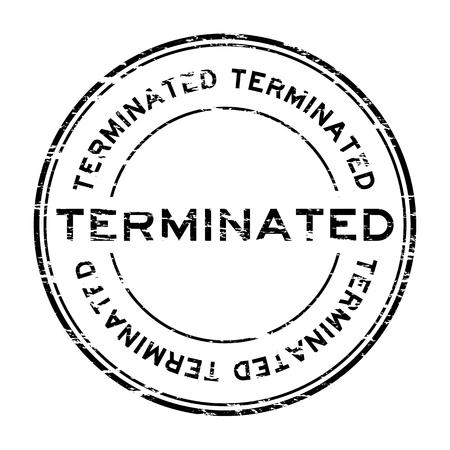 terminate: Grunge black round terminate rubber stamp Illustration
