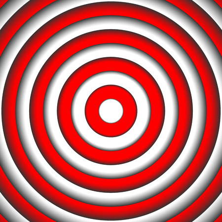 red point: Abstract red and white round vortex background, Target to aim at center point