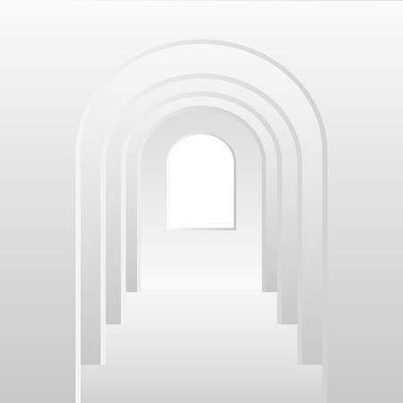 white door: White gradient tunnel door Illustration