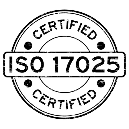 assure: Grunge black ISO 17025 certified rubber stamp