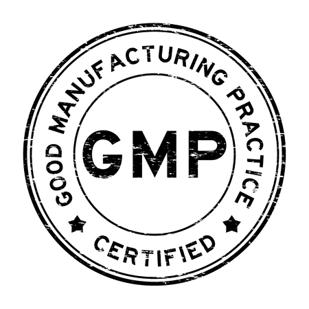 Grunge black GMP certified rubber stamp