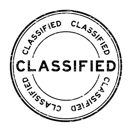classified: Grunge black classified rubber stamp