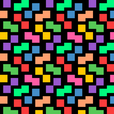 Colorful pastel square background pattern