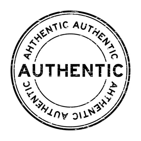 authentic: Grunge black authentic rubber stamp