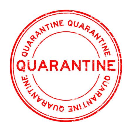 quarantine: Grunge red quarantine rubber stamp