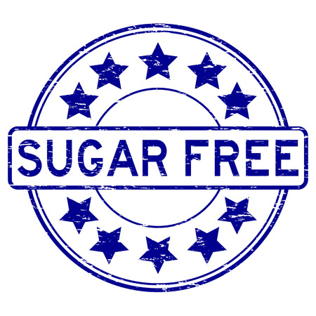 Grunge blue sugar free rubber stamp