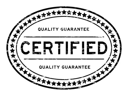 qualify: Grunge black certified quality guarantee rubber stamp
