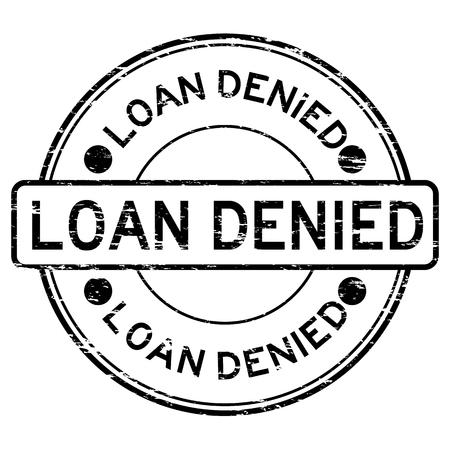 Grunge black loan denied rubber stamp Ilustrace