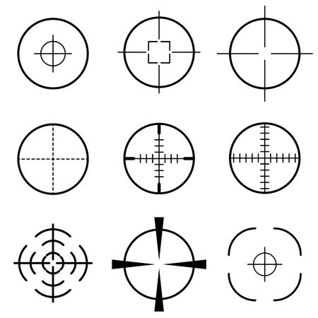 Set of crosshair scope target