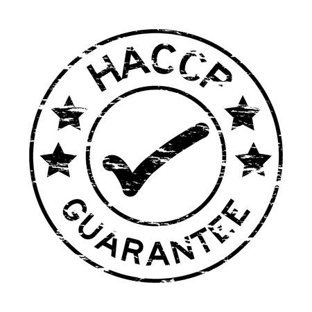 Grunge nero HACCP garanzia timbro di gomma