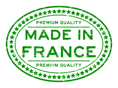 Grunge green premium quality made in France rubber stamp