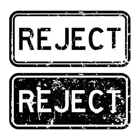 reject: Grunge black square reject rubber stamp