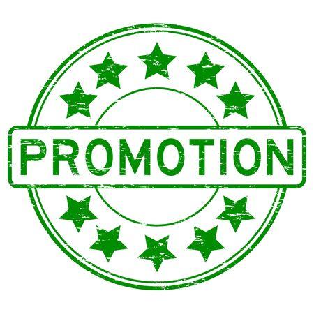 Grunge green promotion rubber stamp