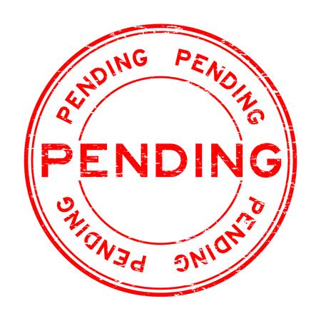 rojo del sello de goma del grunge ronda pendiente para los negocios, el propósito de decisión