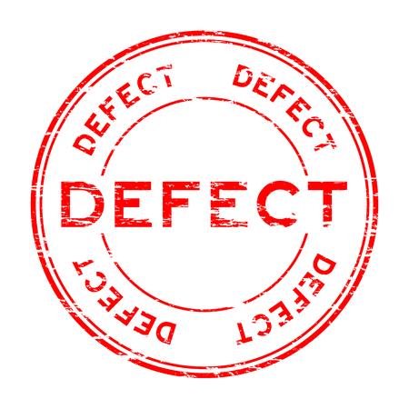 Grunge red defect round rubber stamp