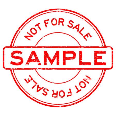 Grunge red round sample not for sale rubber stamp Illustration