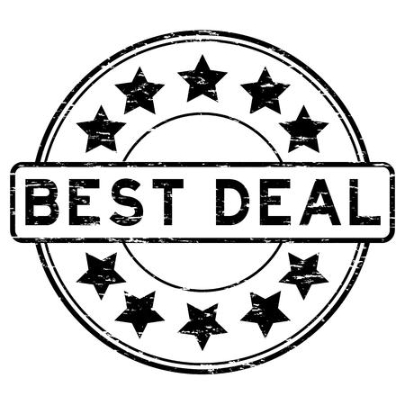 Grunge black best deal rubber stamp