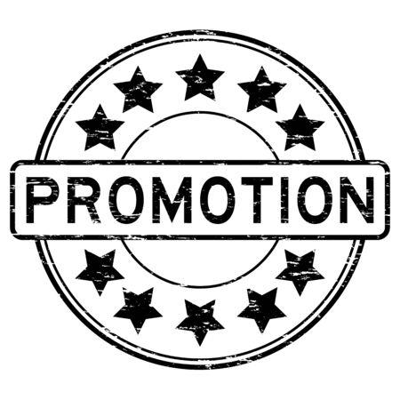 Grunge black promotion rubber stamp