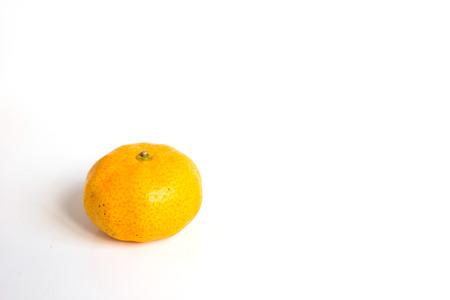 citrus reticulata: mandarin orange (Citrus reticulata) on white background Stock Photo
