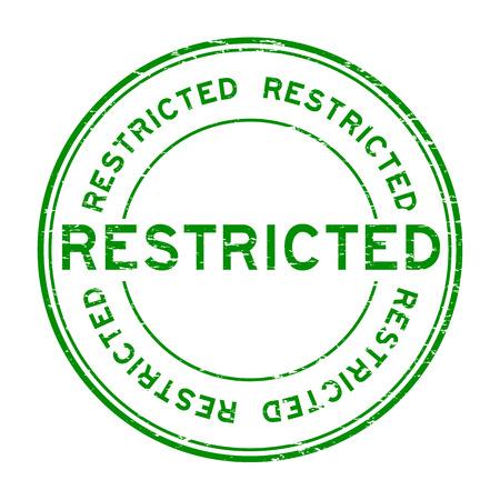 no trespassing: Grunge green restricted round rubber stamp on white background Illustration