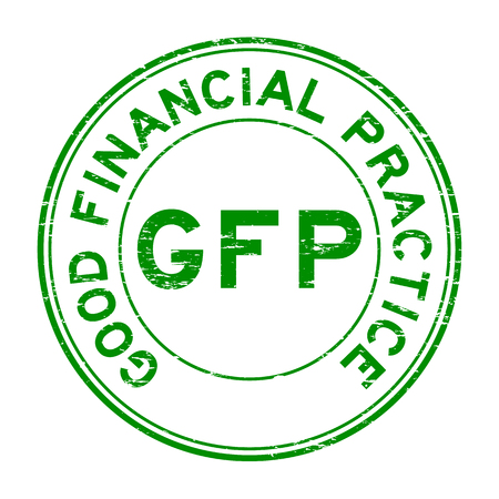 best protection: Grunge green round GFP (Good financial practice) round rubber stamp