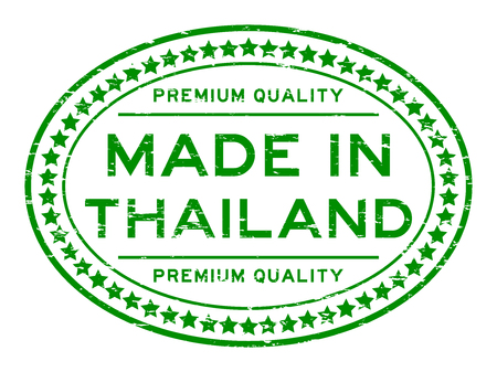 Grunge green premium quality made in Thailand oval rubber stamp