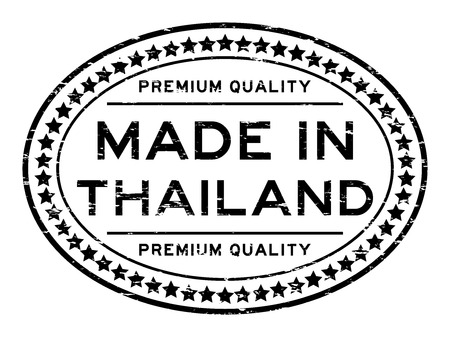 Grunge black premium quality made in Thailand oval rubber stamp