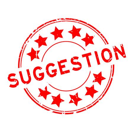 Sugerencia de Grunge rojo con sello de goma redonda del icono de estrella