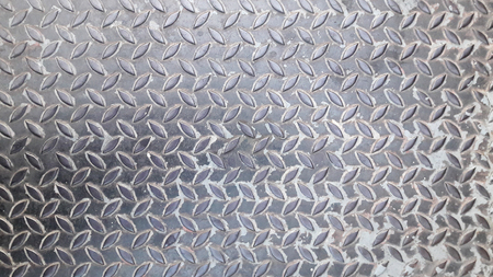 Silver color non-slip metal floor pattern and texture background Stock Photo