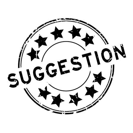 Sugerencia de negro Grunge con icono de estrella redonda sello de sello de goma
