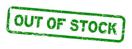 Grunge grün ausverkauft Quadrat Gummidichtung Stempel auf weißem Hintergrund
