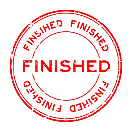 Grunge rood afgewerkt ronde rubberzegel zegel op witte achtergrond
