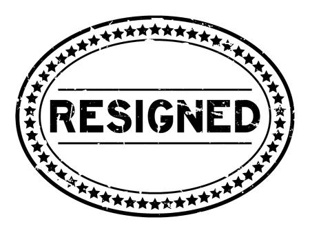 Grunge black resigned oval rubber seal stamp on white background
