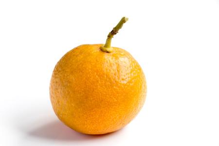 Orange color of Kumquat on white background