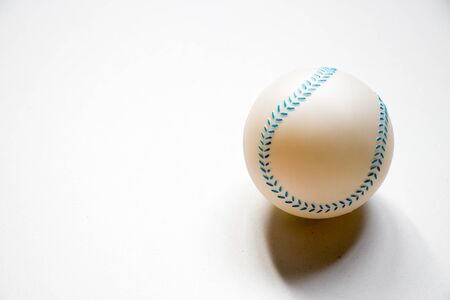 Basetball child toy placed on white background