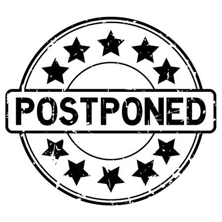 Postpone round rubber seal. 矢量图像