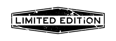 Grunge black limited edition wording hexagon rubber seal stamp on white background Vektoros illusztráció