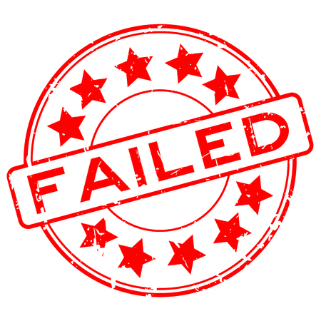Failed rubber stamp