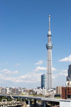Metro constructions site stock photos pictures royalty free tokyo japan april 242017 tokyo skytree the highest tower in japan voltagebd Choice Image
