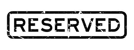 グランジ黒白背景に予約された文言広場ラバーシールスタンプ