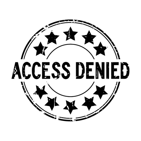 Grunge black access denied with star icon round rubber seal stamp on white background Illustration