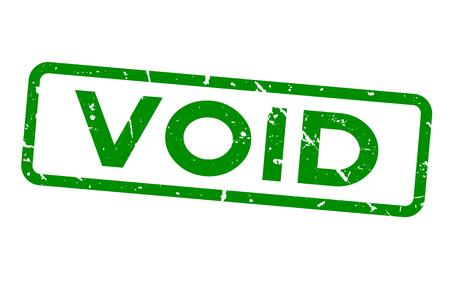 Grunge green void rubber seal stamp Vectores