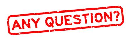 Grunge czerwony jakiekolwiek pytanie słowo kwadrat pieczęć gumowa pieczęć na białym tle
