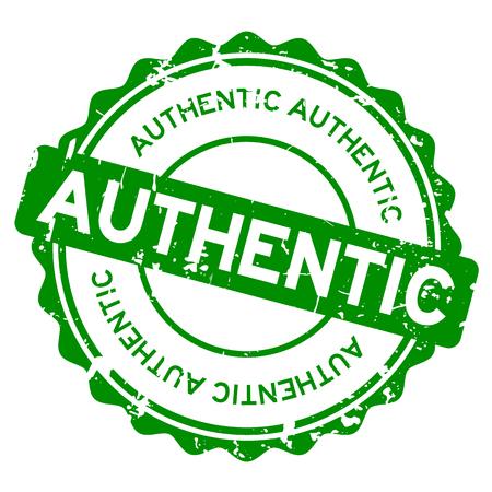grunge vert authentique joint en caoutchouc timbre sur fond blanc