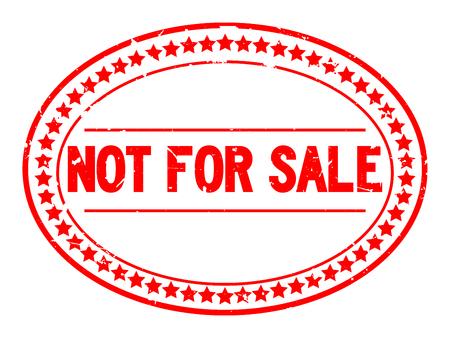 Grunge rouge pas à vendre mot timbre joint en caoutchouc ovale sur fond blanc Vecteurs
